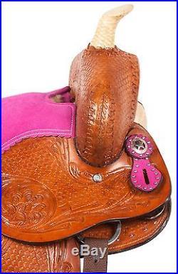 10 12 Western Pony Pleasure Trail Horse Youth Child Kids Saddle Black Tack