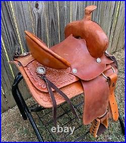 10 High Back Kids Children Tan Leather Mini Pony Leather Saddle