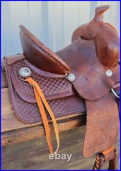 12 High Back Kids Children Brown Leather Mini Pony Leather Saddle