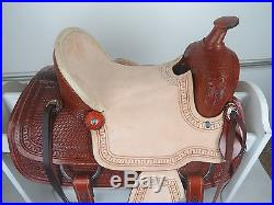 12 New Western Leather Youth Child Horse Pony Ranch Saddle with Girth