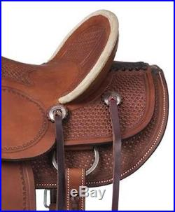 13 Inch Youth Walhalla Wade Hard Seat Western Saddle Med Oil-Roughout Leather