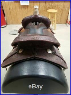 14.5 Used High Horse Western Barrel Saddle 2-1164