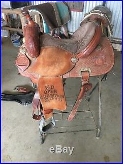 14.5 coats lazy l barrel saddle