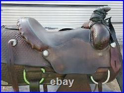 14.5 inch Vintage Custom Roping Saddle