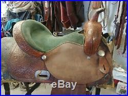 14 Circle Y Barrel Racing Saddle