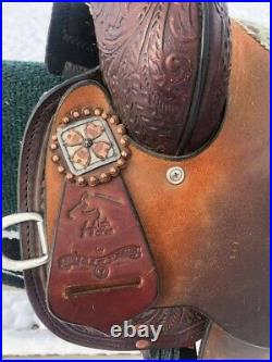 14 Circle Y High Horse Barrel Saddle