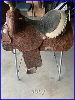 14 Double J Barrel Racing Saddle