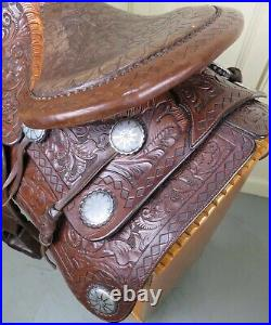 14 F. O. BAIRD Western SADDLE 1947 Very Rare Highly Collectable