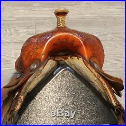 14 Hereford TexTan Flex Tree Barrel Saddle