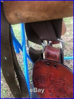 14 Hilason treeless barrel saddle