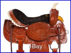 14 Western Barrel Racer Pleasure Trail Horse Show Leather Saddle Tack