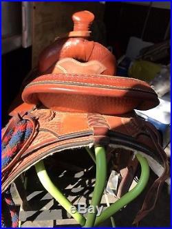14 roping saddle