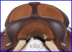 15 16 17 18 Western Synthetic Pleasure Trail Barrel Silver Horse Saddle Tack Set