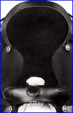 15 16 17 Codura Synthetic Western Pleasure Trail Cowboy Horse Saddle Tack