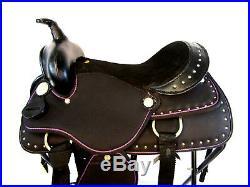 15 16 Rodeo Pleasure Bling Show Silver Studded Saddle Silla De Montar Caballo