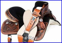 15 16 Treeless Horse Saddle Comfy Western Leather Pleasure Trail Tack