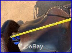 15.5 Calvin Allen cutting saddle