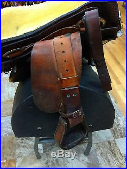 15.5 Rocking R Western Reining Saddle