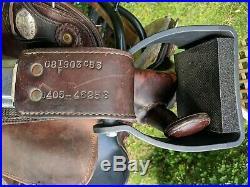 15.5 Tex Tan Flex Trail Western Endurance Saddle