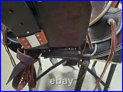 15.5 Used Eli Miller Western Trail Saddle 274-1240
