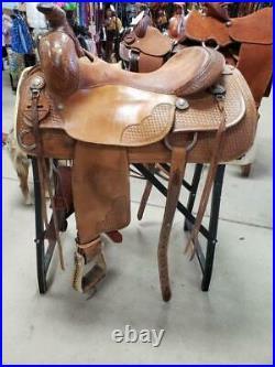 15.5 used Bob's Custom Al Dunning Ranch Versatility Western Saddle 260-1095