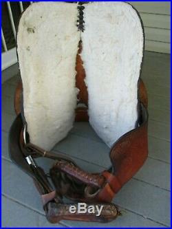 15 #837 American Saddlery Fast Turn Western Barrel Saddle Qh Bars