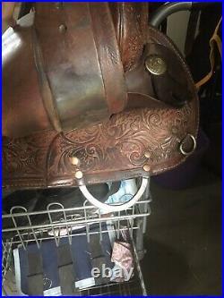 15 Circle Y Barrel Saddle