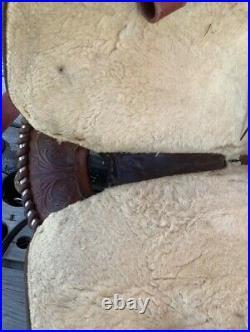 15 Circle Y Saddle Cutting Reining