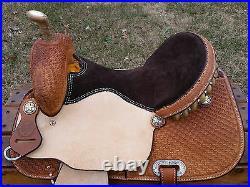 15 Hawkwood Saddlery Barrel Racing Saddle Made in Texas