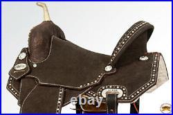 15 In Flex Tree Western Horse Saddle In American Leather Barrel Trail U-Z-15