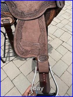 15 Marlene McRae by Reinsman Barrel Saddle