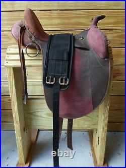 15 Pink Suede Outback Australian Trail Saddle with Horn