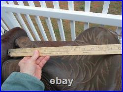 15'' Vntage Bona Allen Western Tooled Show Saddle Sqh Bars