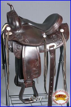 15 Western Horse Saddle American Leather Treeless Trail Pleasure Hilason U-Z-15