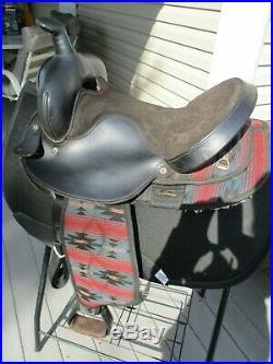 15'' black aztec big horn #191 western barrel trail saddle Cordura & Leather QHB