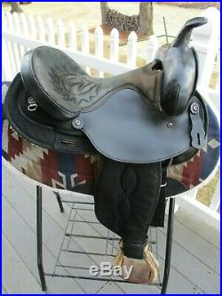 15'' black big horn #101 western barrel trail saddle Cordura & Leather QHB