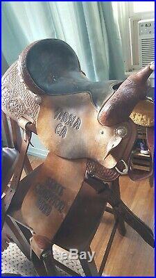 15in NBHA Cactus Scott Thomas Western saddle