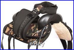 16 17 18 Western Camouflage Pleasure Trail Show Horse Saddle S Tack Set