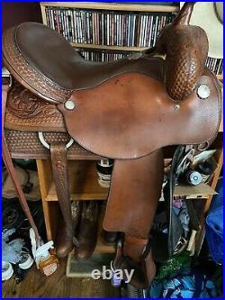 16 1/2- 17 Circle Y Team Penner Ranch sorting cutting reining saddle