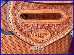 16.5 Blue Ribbon Custom Saddle with Suede Dowdy seat