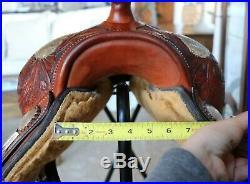 16 Billy Cook Maker Sulphur, OK #2098 Tooled Western Pleasure Show Saddle