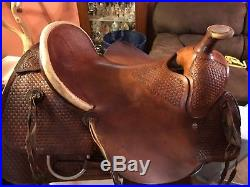 16 Billy Cook Ranch Roping Saddle Made in Sulphur, Oklahoma