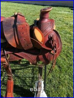 16 Billy Cook Wade/Roping/Ranch/work/trail saddle EUC
