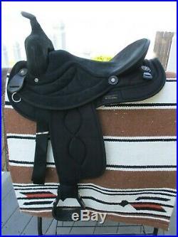 16'' Black Suede & Cordura big horn #601 western barrel trail saddle QHB