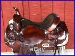 16 CIRCLE Y Park & Trail Western Show Horse Saddle w Silver
