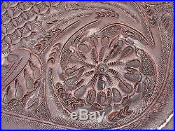 16 Cook Saddlery Chocolate Cutting Saddle Hand Carving, DEEP pocket, MUST SEE