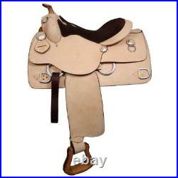 16 Double T Western Training Work Horse Saddle Full Qh Bars And Suede Seat 6331