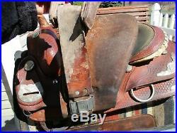 16'' Equitation Western Saddle Qhb Silver Show Saddle