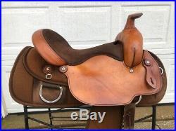 16 FABTRON Flex Tree Brown Western Trail Roping Saddle #7110-B