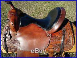 16 Hereford Tex Tan Flex Trail Saddle